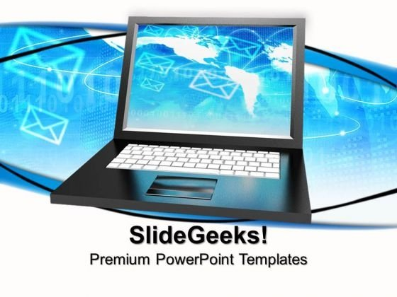Laptop Internet PowerPoint Templates And PowerPoint Themes 0812