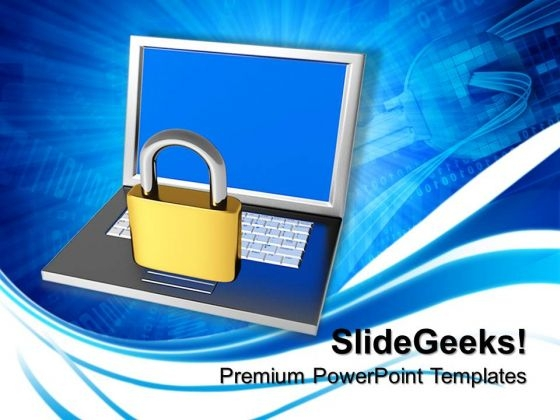 Laptop Internet Security PowerPoint Templates And PowerPoint Themes 0812