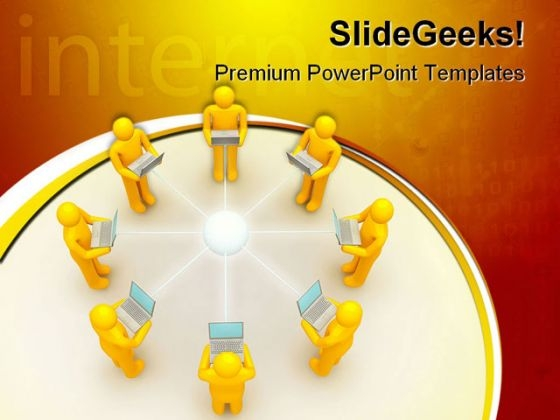 Laptop Network Internet PowerPoint Themes And PowerPoint Slides 0511