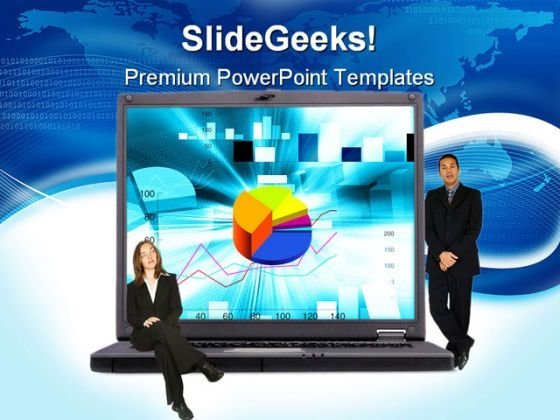 Laptop With Executive Business PowerPoint Themes And PowerPoint Slides 0511
