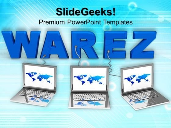 Laptop With Word Warez PowerPoint Templates And PowerPoint Themes 0812