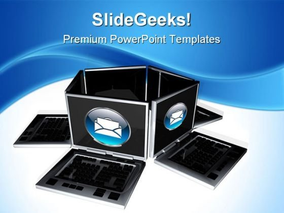 Laptops Technology PowerPoint Themes And PowerPoint Slides 0711