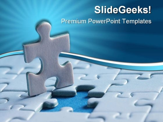 Last Puzzle Piece Business PowerPoint Templates And PowerPoint Backgrounds 0511