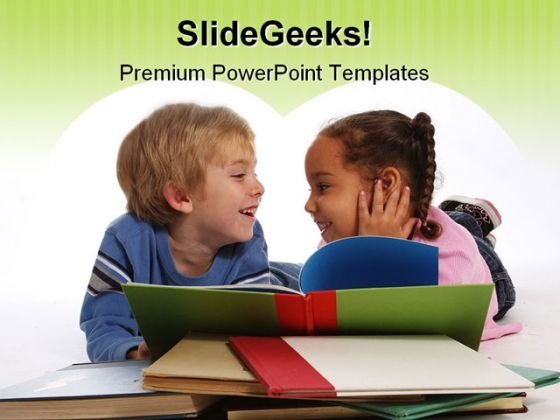 Laughing Kids Education PowerPoint Backgrounds And Templates 0111