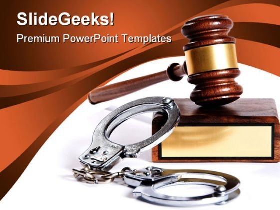 Law And Order Security PowerPoint Template 1110