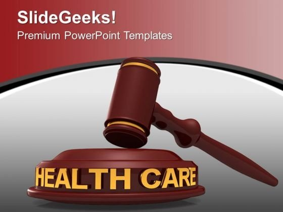 Law Of Health Care PowerPoint Templates Ppt Backgrounds For Slides 0113