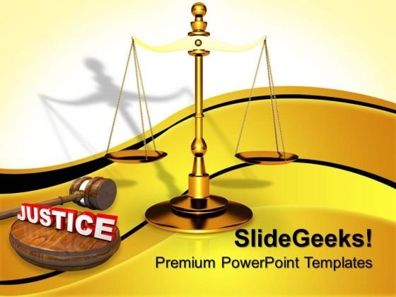 Law Served Justice PowerPoint Templates And PowerPoint Themes 0812