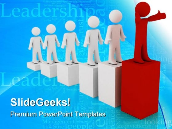 Leader Concept Business PowerPoint Templates And PowerPoint Backgrounds 0711