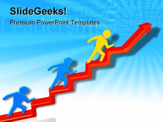 Leader In Business PowerPoint Templates And PowerPoint Backgrounds 0611