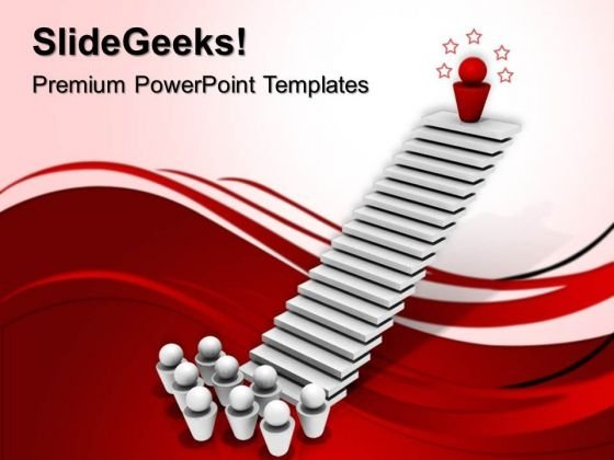 Leader On Top Success PowerPoint Templates And PowerPoint Themes 0612
