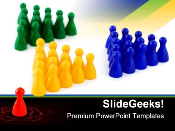 Leader Team Business PowerPoint Templates And PowerPoint Backgrounds 0611