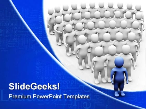 Leader Team Leadership PowerPoint Templates And PowerPoint Backgrounds 0411