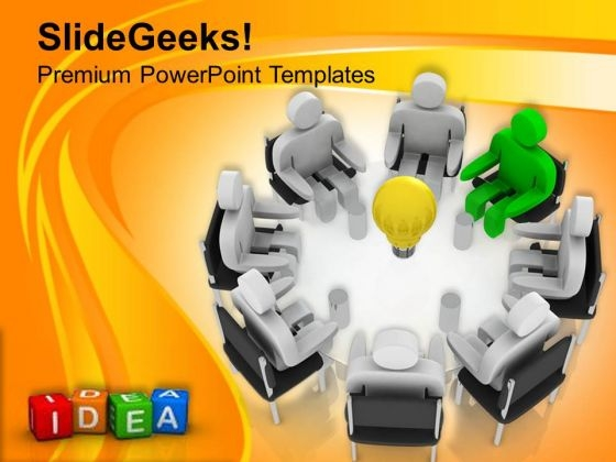 Leader With Innovative Ideas Business Concept PowerPoint Templates Ppt Backgrounds For Slides 0513