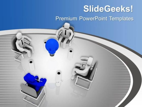 Leader With Innovative Ideas PowerPoint Templates Ppt Backgrounds For Slides 0613