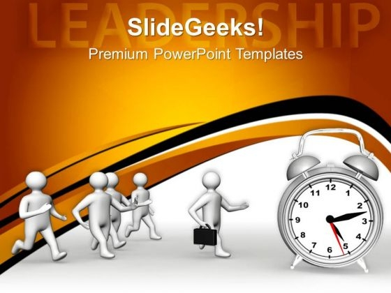 Leadership And Time Concept Business PowerPoint Templates And PowerPoint Themes 0712
