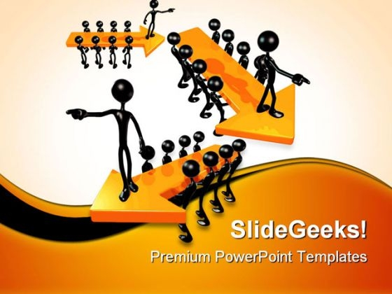 Leadership Arrows Business PowerPoint Themes And PowerPoint Slides 0711