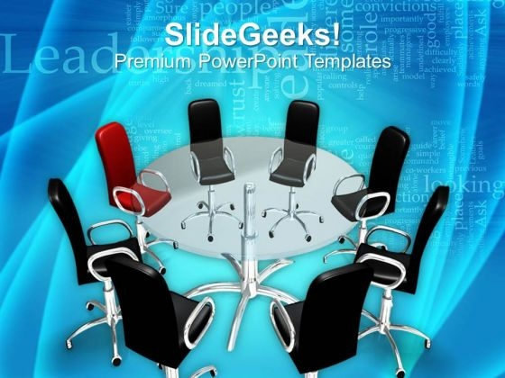 Leadership Concept On Conference Table PowerPoint Templates Ppt Backgrounds For Slides 0113