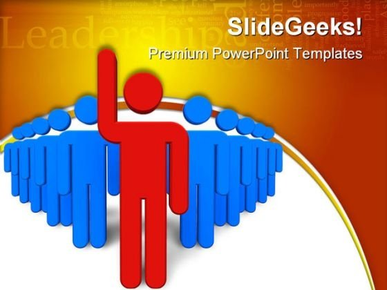 Leadership Concept Success PowerPoint Themes And PowerPoint Slides 0511