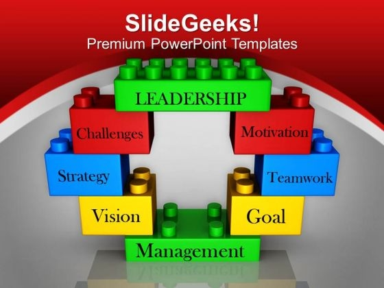 Leadership Concept With Toy Blocks PowerPoint Templates Ppt Backgrounds For Slides 0513