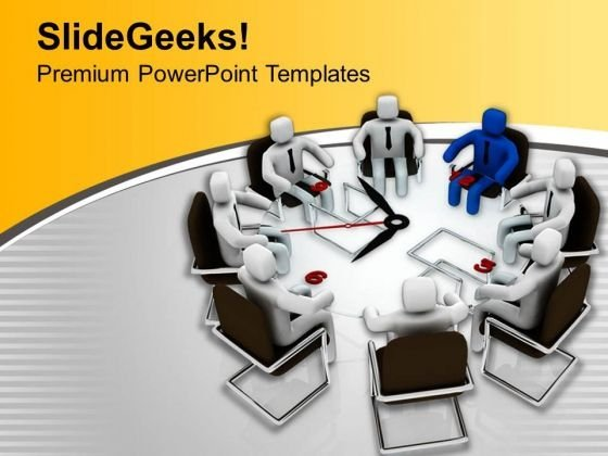Leadership Meeting For Time Bound Solution PowerPoint Templates Ppt Backgrounds For Slides 0813