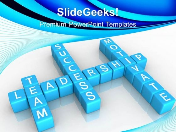 Leadership Motivate Cubes Shapes PowerPoint Templates And PowerPoint Themes 0512