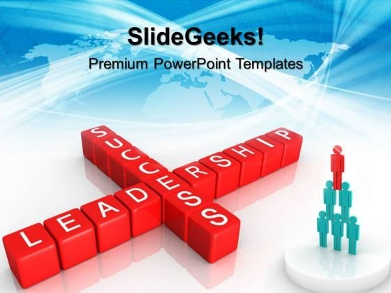 Leadership Success Blocks Shapes PowerPoint Templates And PowerPoint Themes 0512