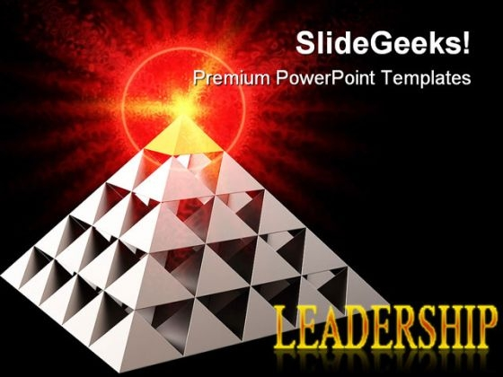 Leadership Symbol PowerPoint Backgrounds And Templates 0111