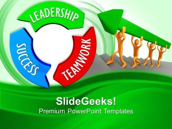Leadership Teamwork Success On Circular Arrows PowerPoint Templates And PowerPoint Themes 0712