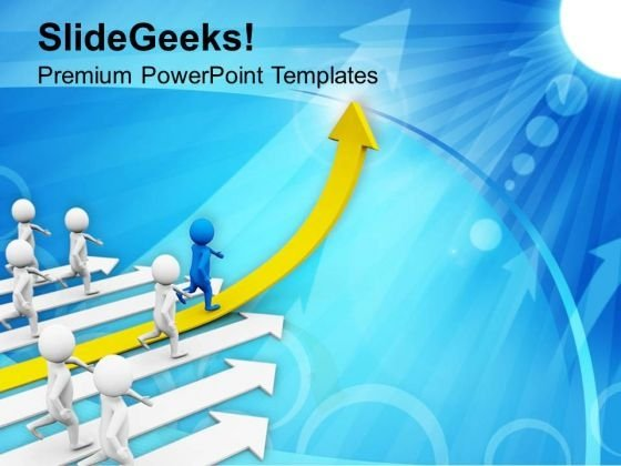 Leading A Team Goals And Achievement PowerPoint Templates Ppt Backgrounds For Slides 0513