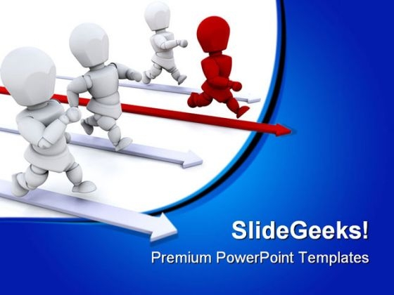 Leading The Way Leadership PowerPoint Themes And PowerPoint Slides 0711