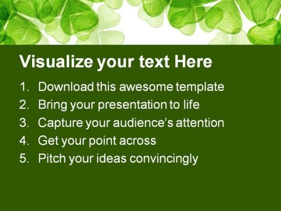 leaf_clover_nature_powerpoint_themes_and_powerpoint_slides_0511_text