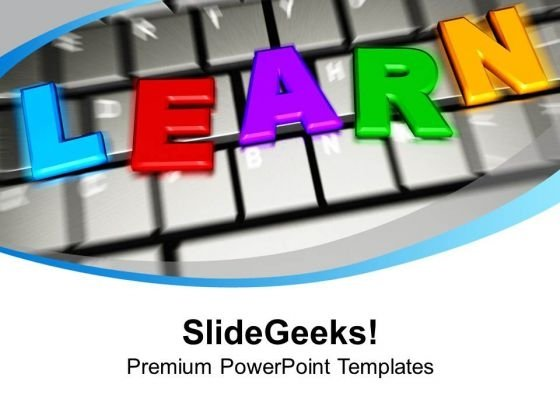 Learn Letters On Keyboard E-learning PowerPoint Templates Ppt Backgrounds For Slides 1212
