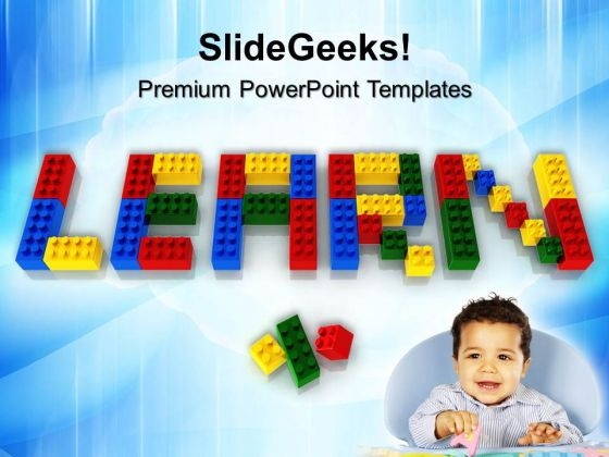 Learn With Lego Blocks Game PowerPoint Templates And PowerPoint Themes 0812
