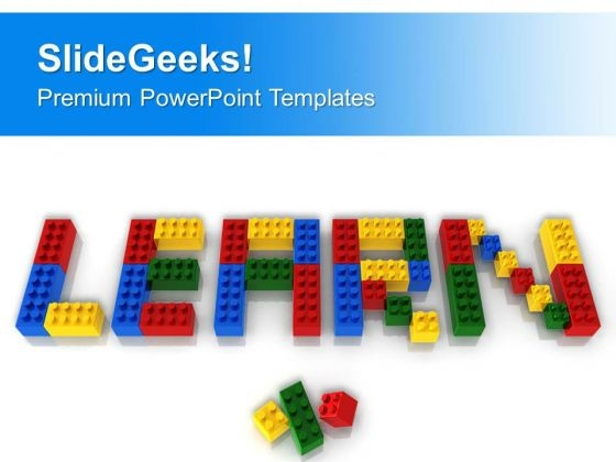 Learn Word With Lego Blocks PowerPoint Templates Ppt Backgrounds For Slides 0313