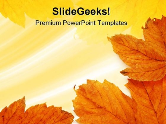 Leaves Frame Background PowerPoint Themes And PowerPoint Slides 0811