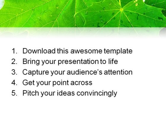 leaves_reflection_nature_powerpoint_template_1110_print