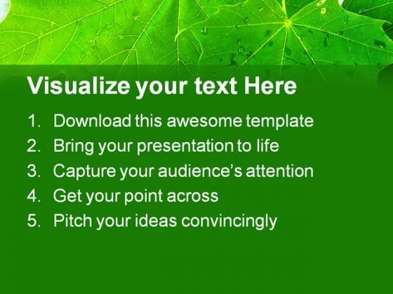 leaves_reflection_nature_powerpoint_template_1110_text