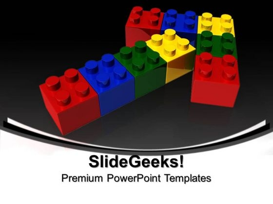 Lego Arrows Shapes PowerPoint Templates And PowerPoint Themes 0912