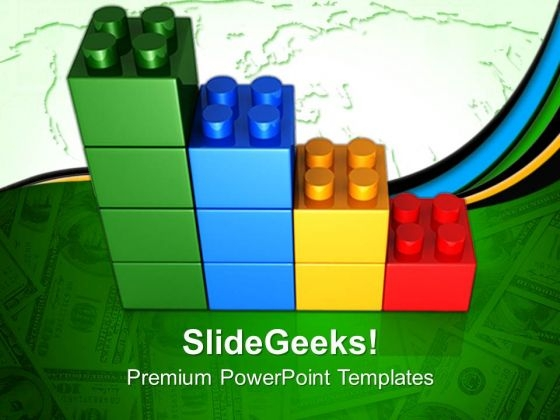 Lego Bar Graph Business PowerPoint Templates And PowerPoint Themes 0712