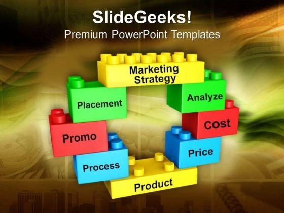 Lego Blocks Forming Circle Marketing Strategy PowerPoint Templates Ppt Backgrounds For Slides 0313