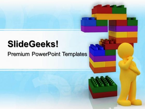 Lego Blocks Question Metaphor PowerPoint Templates And PowerPoint Themes 0512