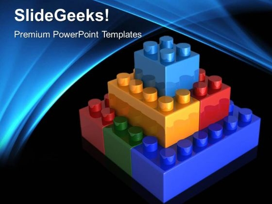 Lego Blocks Teamwork PowerPoint Templates And PowerPoint Themes 0512