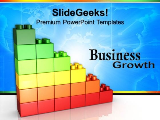Lego Graph Growth Business PowerPoint Templates And PowerPoint Themes 0712