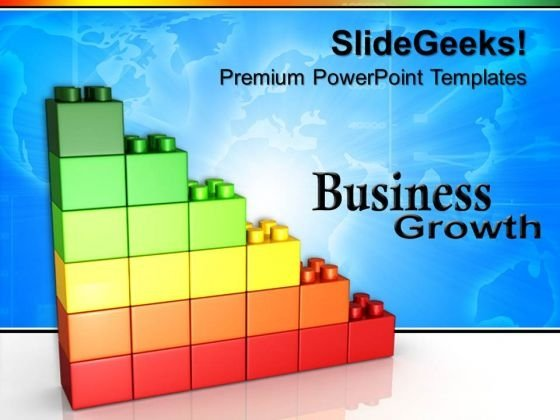 Lego Growth Graph Business PowerPoint Templates And PowerPoint Themes 0612