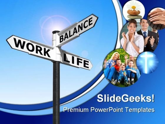 Life Work Balance People PowerPoint Template 0610