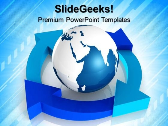 Lifecycle With Globe Powerpoint Templates And Powerpoint Themes 0812