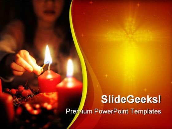 Light A Candle Beauty PowerPoint Templates And PowerPoint Backgrounds 0711