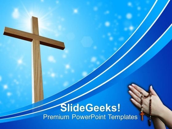 Light And Cross Church PowerPoint Templates And PowerPoint Themes 0812
