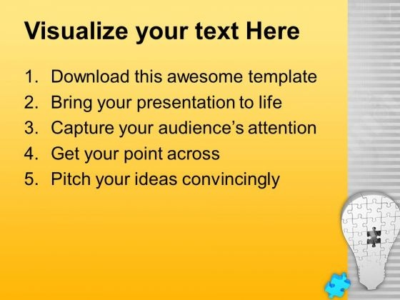 Light bulb of puzzle with missing piece powerpoint templates ppt lightbulbofpuzzlewithmissingpiecepowerpointtemplatespptbackgroundsforslides0813text toneelgroepblik Images