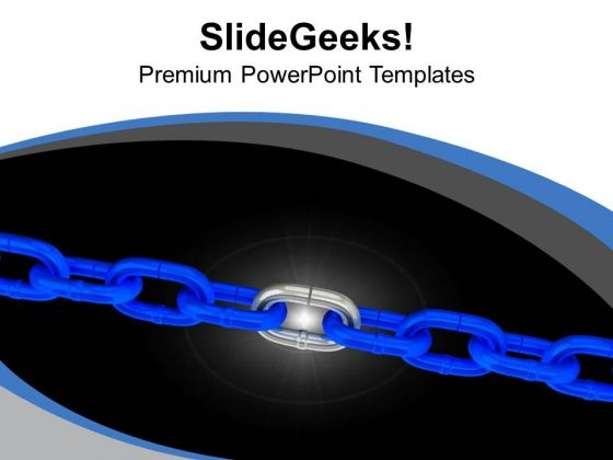 Links Of Chain Teamwork Concept PowerPoint Templates Ppt Backgrounds For Slides 0313